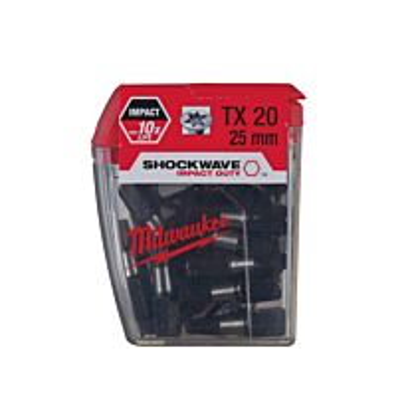 Milwaukee Shockwave schroefbit TX 20, lengte 25 mm (25 stuks)